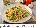 Chinese noodles with tofu and cashew nuts 39628532