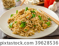 Chinese noodles with tofu and cashew nuts 39628536