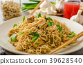 Chinese noodles with tofu and cashew nuts 39628540