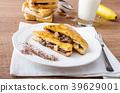 French toast stuffed with chocolate and banana 39629001