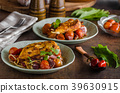 Grilled chicken steak with roasted vegetable 39630915
