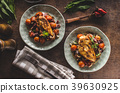Grilled chicken steak with roasted vegetable 39630925