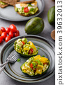Stuffed avocado with vegetable 39632013
