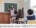 Children Cheerful Studying Education knowledge Concept. Children are learning a group study, VR, Science, practical education and schooling. 294 39633714