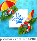 It's summer time banner design with white square f 39634986