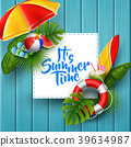 It's summer time banner design with white square f 39634987
