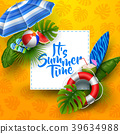 It's summer time banner design with white square f 39634988