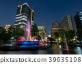 城市風景日比谷公園和東京中城日比谷夜景 39635198