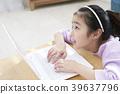 여자아이, 여자, 노트북 39637796