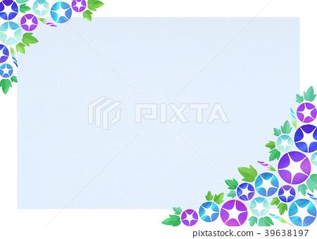 背景材料_牽牛花(藍色系列) 39638197
