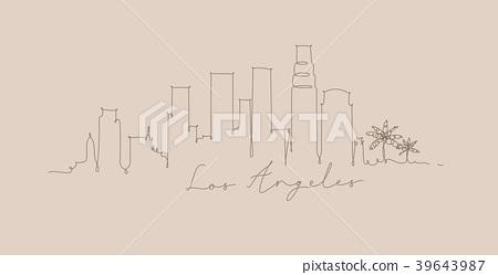 Pen line silhouette los angeles beige 39643987