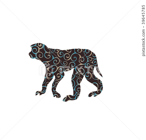 Macaque monkey primate spiral pattern color 39645785