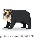 bear, spectacled, vector 39646528