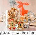 姜饼人 驯鹿 圣诞节 39647500