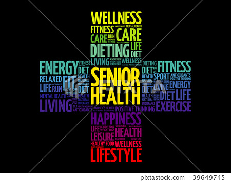 Senior health word cloud collage 39649745
