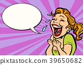 woman laughs with tears 39650682