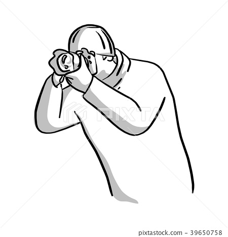 portrait of photographer shooting photo vector  39650758