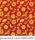 일본식 배경 붉은 바탕에 금색 마키 39650901