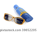 Sunglasses and sunscreen 39652205