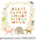 动物 字母 字体 39652625