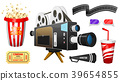 movie, cinema, vector 39654855