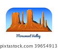 Monument Valley. Mountains and Peaks and landscape 39654913