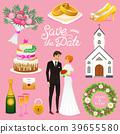 wedding, vector, church 39655580