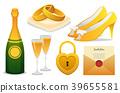 wedding icon set 39655581