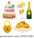 wedding icon set 39655583