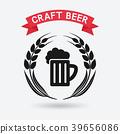 craft beer banner. mug of beer and ears of barley 39656086