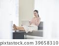 집,비즈니스우먼,재택근무,여자,한국인 39658310