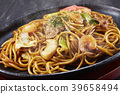 close-up, fried soba, food 39658494