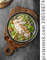 Waldorf salad with grilled chicken 39658874