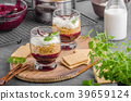 Cheesecake in glass 39659124
