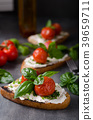Bread cheese spread baked tomato 39659711