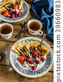 Pancakes with berries 39660983