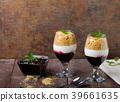 Inverted cheesecake dessert in glass 39661635