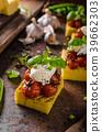 polenta grilled tomato 39662303