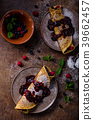 Delicious crepes with forest fruit 39662457