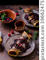 Delicious crepes with forest fruit 39662475