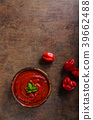 Hot sauce from chilli peppers 39662488
