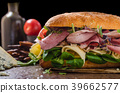 Sandwich with ham and cheese, lettuce 39662577