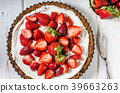 Cheesecake with strawberries 39663263