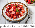 Cheesecake with strawberries 39663264