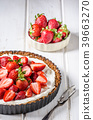 Cheesecake with strawberries 39663270