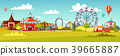 Amusement park vector cartoon illustration of 39665887