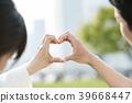 心 夫婦 一對 39668447