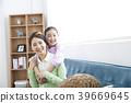 幸福的母亲和女儿 39669645