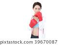 젊은 여성 권투 39670087