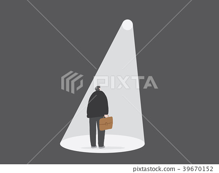 Businessman and the light of solution way 39670152